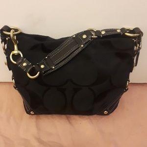 Coach shoulder bag black barely used!